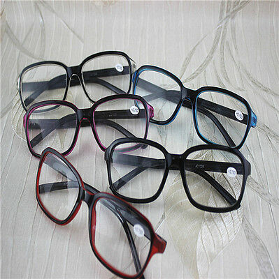 Half Clear Big Square Frame Multicolor Reading Glasses Readers +0.5 0.75 1.0~4.0