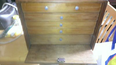 Antique Portable Small 5 Drawer unit