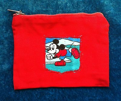 Mickey Mouse coin purse red ice skater phone cover pencil case mouse pouch
