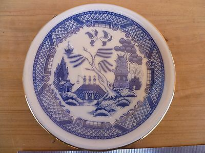 Vintage Old Blue & White Small Size Plate Dish,  (B831)