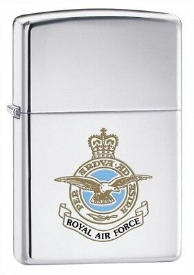 Zippo Royal Air Force Lighter - High Polished Chrome
