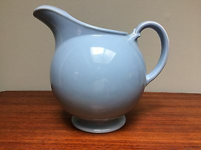 Vtg LuRay Pastels Blue Water Pitcher Ice Lip Taylor Smith Taylor TS&T