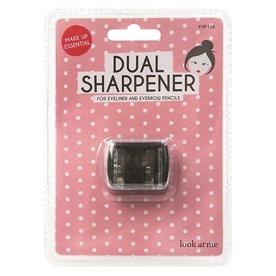 Eyeliner Sharpner Cosmetics Dual Double Pencil Eyeliner Sharpener Two Size Clear
