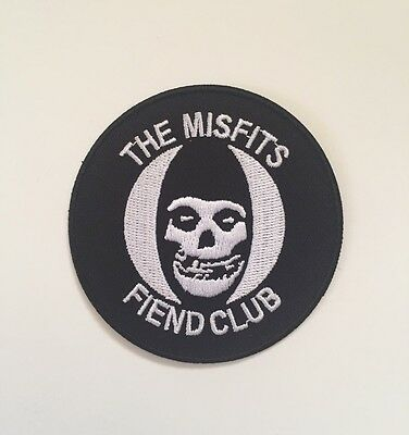 Misfits Fiend Club Round Embroidered Patch Iron on or Sew on