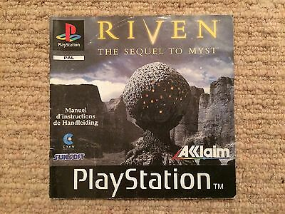 Riven - Playstation PS1 Instruction Manual Only