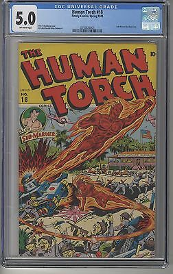 HUMAN TORCH #18 CGC 5.0 Golden Age Schomburg cover Sub-Mariner