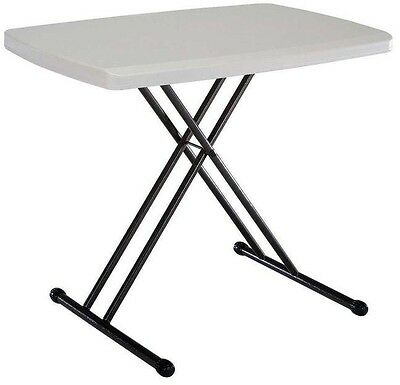 Lifetime 30 in. x 20 in. Personal Folding Table in Almond