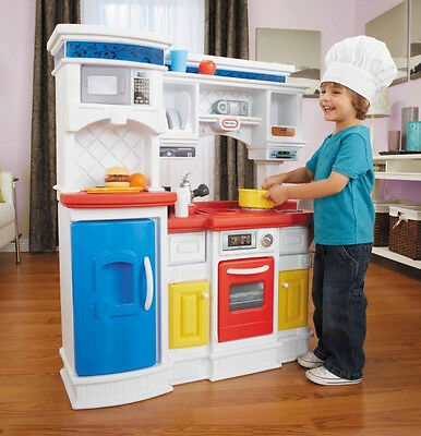 Little Tikes Gourmet Prep 'n Serve Kitchen Kids Plastic Toy Playset and Utensils