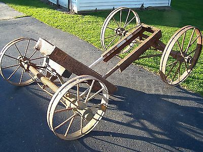 Old 6hp JOHN LAUSON ALPHA DELAVAL Hit Miss Gas Engine Truck Cart Steel Motor WOW