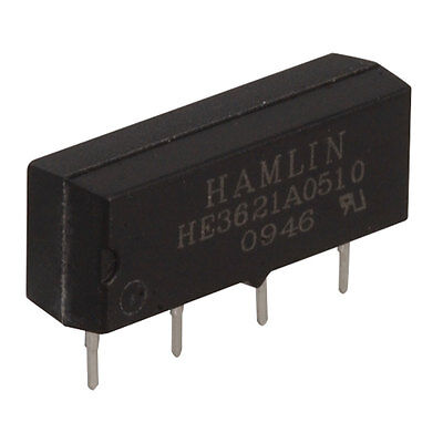 Hamlin Electronics HE3621A0510 Electromechanical Relay Single Pole Single 4 pcs