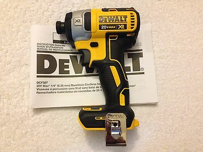 """New Dewalt DCF887 1/4"""" 3 Speed 20V Max XR Brushless Impact Driver Replace DCF886"""