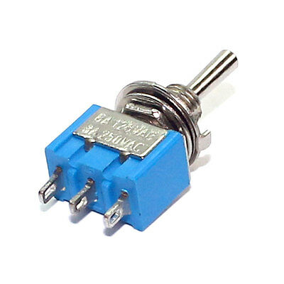 Toggle Switch Miniature Single Pole Double Throw (MTS103) (On-Off-On) 120 4 pcs