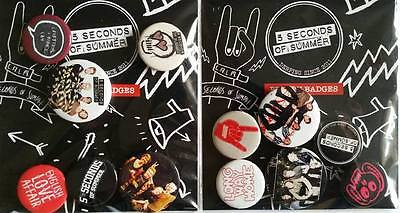 Pack of 6 Official Licensed 5SOS Five seconds of summer button badges