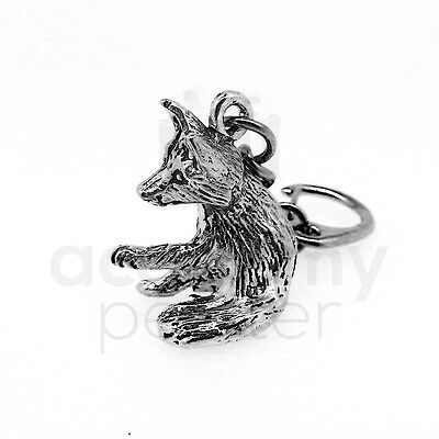 Academy Pewter 'Playful Fox' Keyring (UK Hand Crafted)