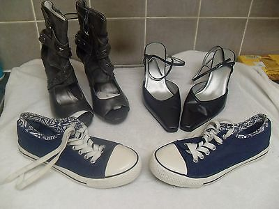 Job Lot 5 Ladies Shoes and Boots Size 5-5 1/2
