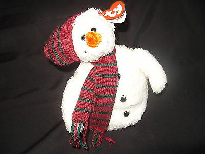 Ty Beanies - Attic Treasures Chillings The Snowman With Tag