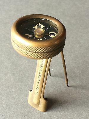 VINTAGE Marble Arms & Mfg Co COMPASS, Long Tang Coat Compass, White Face OLD WW2