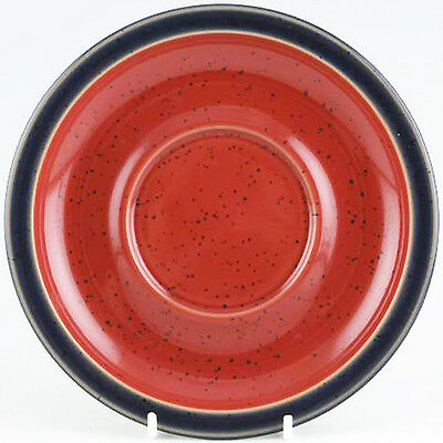 HARLEQUIN RED IN / BLUE OUT by DENBY BREAKFAST SAUCER ONLY NEW England