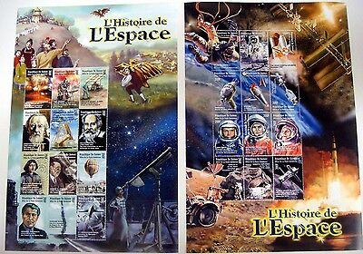2000 Mnh Republique De Guinee Space Stamps Sheets History Of Space John Glenn