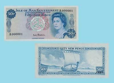 Isle of Man 50 New Pence ND. UNC - Reproductions