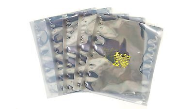 "100 6""x8""ESD Anti-Static Shielding Bags,Metal In,Open-Top,3.1 mils,For 3.5"" HDD"