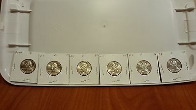 2009 P DC AND US Territorial Quarters P mint BU all 6 quarters