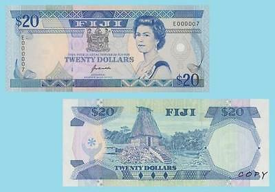 Fiji 20 Dollars 1992. UNC - Reproductions