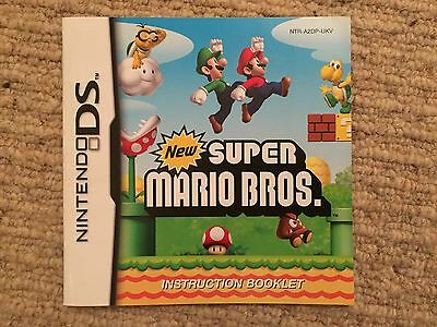 New Super Mario Bros - Nintendo DS Instruction Manual Only