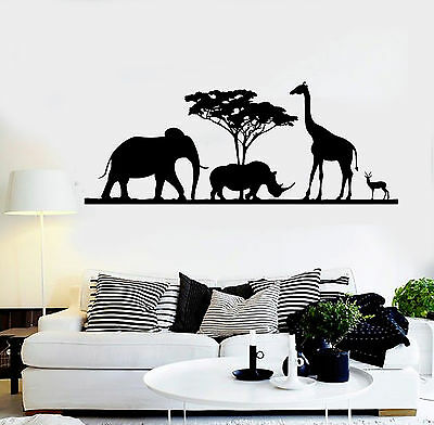 Vinyl Wall Decal Elephant Family Baby Room African Animals Stickers Mural ig4955