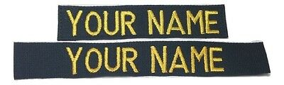 BLACK Custom Name Tape  - US ARMY USAF MARINES POLICE Military
