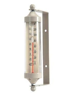 Garden Trading Fair Isle Tube Thermometer - Small - Clay 20cm