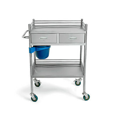 Serving Unique Medical Dental Lab Cart Trolley Portable Layers 2 Drawers UC913