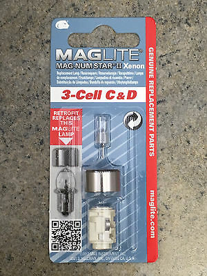Maglite 3 Cell Xenon Replacement Light Bulb C or D Flashlights LMXA301 (LMSA301)