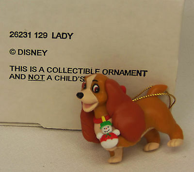 Groiler Disney LADY and The Tramp Christmas Magic Ornament #129 MINT in BOX