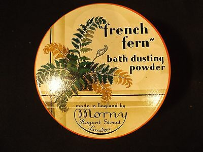 1950's New Old Stock French Fern Dusting Powder Morny London Powder Puff Inc.
