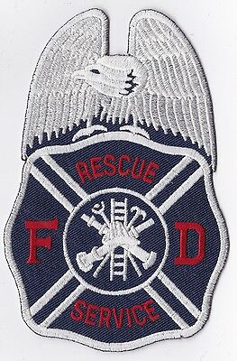 FD Rescue Service Firefighter Patch NEW