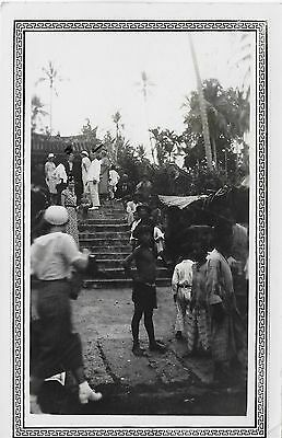 SNAKE TEMPLE REAL PHOTO~ STRAIGHTS SETTLEMENT, (MALAY), Malaysia, c1934