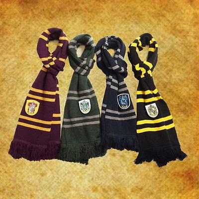 Harry Potter Winter Thicken Wool Knit Scarf Gryffindor Slytherin Ravenclaw