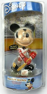 Disney Face Off Mickey Mouse NHL DETROIT REDWINGS Ice Hockey Bobblehead Doll
