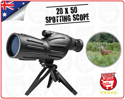 20x50 Zoom Spotting Scope Telescope Tripod High Quality Precision Optical