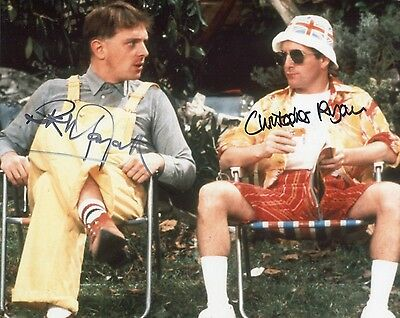 Rik Mayall & Christopher Ryan genuine authentic hand signed THE YOUNG ONES photo
