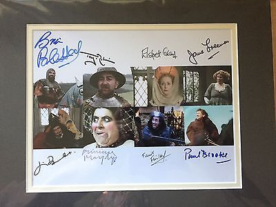 BLACKADDER classic TV comedy CAST hand signed 8x10 photo
