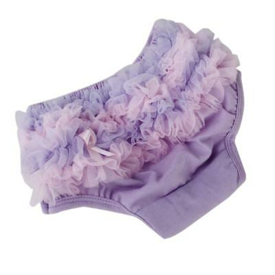 Baby Girl Toddler Ruffle Underwear Bloomer Bottom Nappy Cover Panty Purple S