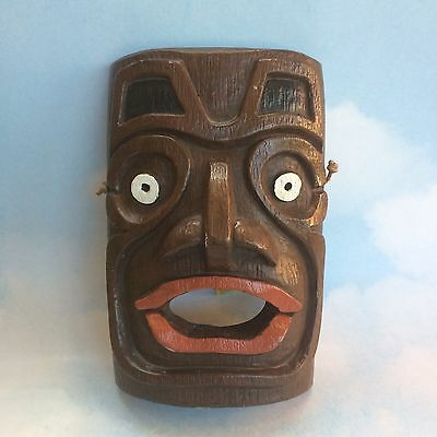 Vintage Tlingit Native Pottery Shaman Mask Haida Reproduction Haida