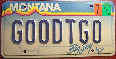 2000 Montana Vanity Personalized License Plate Good To Go All Ready Set Done Mt