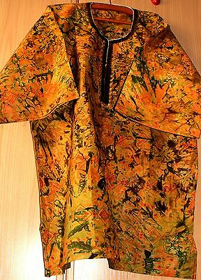 New Unique West African embroidered Danshiki top batik tye dye mens various mix