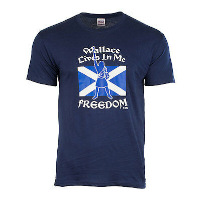 Heritage of Scotland Men's Wallace Lives In Me Freedom T-Shirt