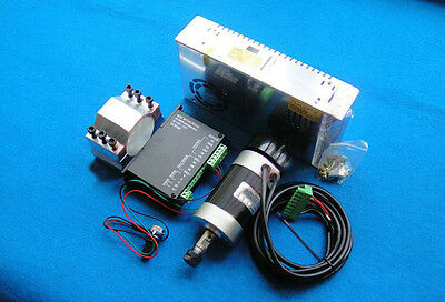 CNC 400W Brushless Spindle Motor ER11 & Mach3 PWM speed controller & Mount + PS