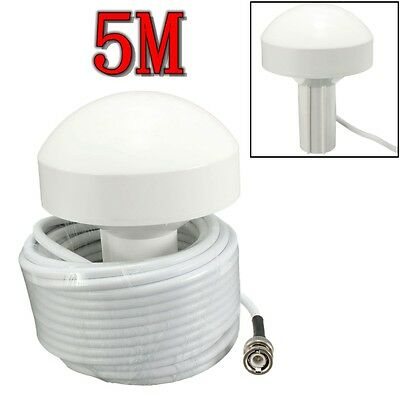 GPS Active Marine Navigation Antenna 5 Meters With BNC Male Plug Connector New