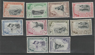 Swaziland 1961 Qeii Pictorial Range To R1 Mnh **